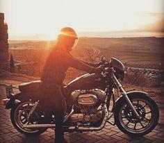 Riding sunset