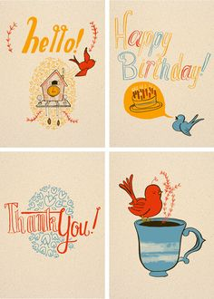 Lovely illustrations by This Paper Ship (via designworklife) #ThisPaperShip #handlettering #cards