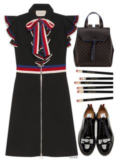 """""""Back to school"""" by tiana212 ❤ liked on Polyvore featuring Thom Browne, Gucci and Alexandra de Curtis"""