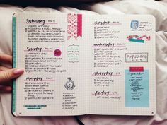 Layout exemple - Bullet journal ideas, inspiration. This is not mine