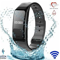 Fitness Tracker【Blood Pressure Measure and Heart Rate Monitor】Bluetooth with Heart Rate Pulse Monitor, Blood Pressure Measure, Calorie Counter, Sleep Monitor, Drinking Water Reminder, Sport Pedometer Activity Tracker, IP67 Waterproof, Smart Wristband Bracelet. OLED Touch Screen Compatible with Android, iPhone, IOS Phone