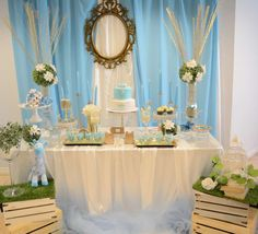 You don't want to miss this gorgeous Garden of Eden Baptism! The dessert table is fabulous!! See more party ideas and share yours at CatchMyParty.com