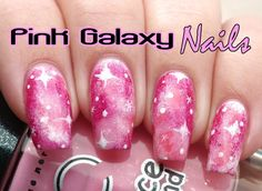 Pink Galaxy Nails Tutorial | Lucy's Stash http://lucysstash.com/2014/03/pink-galaxy-nails-with-tutorial.html