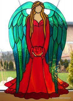 Witraże Tiffany Galeria Anna Danowska  Anioł Miłości