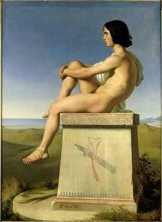 Hippolyte Flandrin (1809-64) : Polytès, Fils de Priam, Observant les Mouvements des Grecs vers Troie (1834)