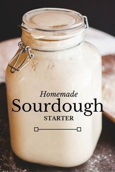 If you're a bread lover, you'll love this San Francisco style sourdough starter . If you're a bread lover, you'll love this San Francisco style sourdough starter for baking your own tangy and chewy Pain Au Levain, Sourdough Recipes, Sourdough Bread Starter, Sour Dough Bread Starter Recipe, Think Food, Bread Machine Recipes, Artisan Bread Recipes, Bread And Pastries, Dessert Bread