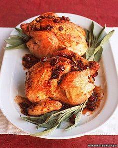 Cranberry-Stuffed Cornish Game Hens Recipe
