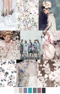 AMBIENT GARDEN pattern. Fashion color palette. Trends in fashion. For more follow www.pinterest.com/ninayay and stay positively #inspired