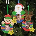 Christmas Photo Ornament Craft Kit. Christmas crafts for children.