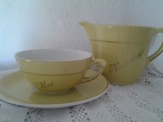 Nous Deux...Moi..milk jug...Cup and by cheztoietmoi on Etsy, €26.00