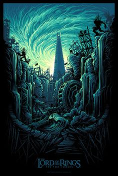Dan Mumford Lord of the Rings Two Towers Poster Release... #Arsetculture #Inside_the_Rock_Poster_Frame #Gig_Posters