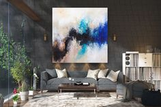 Items similar to Large Abstract Canvas Art,Extra Large Abstract Canvas Art,painting on canvas,modern abstract,extra large wall art on Etsy Large Canvas Art, Abstract Canvas Art, Large Painting, Texture Painting, Canvas Wall Art, Texture Art, Gold Canvas, Oversized Wall Art, Extra Large Wall Art