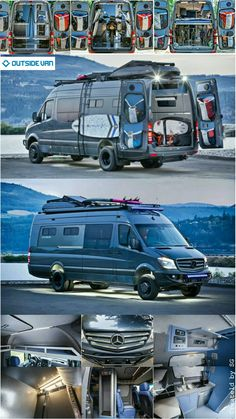 Outside van 170 ext Mercedes Sprinter Camper, Sprinter Rv, Bus Camper, Campers, Van Conversion Build, Camper Van Conversion Diy, Sprinter Conversion, Best Campervan, Leisure Travel Vans