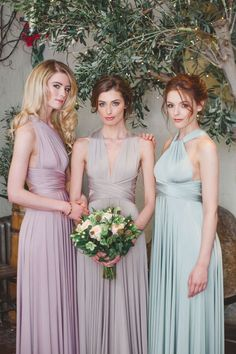 Convertible Long Bridesmaid Dresses By Twobirds / http://www.himisspuff.com/convertible-bridesmaid-dresses/6/