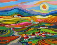 Isabel le Roux | South African Artist | Paintings Gallery | Landscapes Landscape Quilts, Landscape Art, Colombian Art, Filipino Art, South African Artists, Modern Impressionism, Painting Gallery, Hippie Art, Psychedelic Art