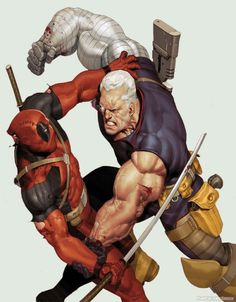 Deadpool vs Cable - Ariel Olivetti