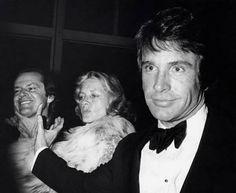Jack Nicholson, Lauren Baccall y Warren Beatty.