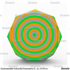 Shop Customisable Colourful Concentric Circle Design Acrylic Award created by JFJPhoto. Acrylic Awards, Showcase Design, Circle Design, Printing Process, Color, Colour, Colors