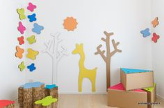andrea brugnera designer | a project for kids' playroom using reusable and recyclable cardboard. Super!