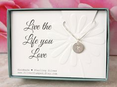Live the Life you Love Birthday gift for best by SilverStamped