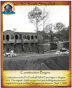 Snapshot: 50 Years of the Pro Football Hall of Fame. Construction of the Pro Football Hall of Fame began in August First Football Game, Football Hall Of Fame, Oh My Home, Stark County, Canton Ohio, Lake Park, World's Fair, Local History