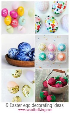 9 Easter egg decorating ideas Hoppy Easter, Easter Eggs, Holiday Decorations, Holiday Ideas, Egg Decorating, Easter Ideas, Fun Stuff, Spring Fashion, Parties