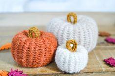 Herringbone Pumpkins Crochet Pattern by Yarn Society Crochet Cow, Crochet Pumpkin, All Free Crochet, Learn To Crochet, Crochet Hooks, Crochet Fall, Crochet Rugs, Holiday Crochet, Crochet Doilies