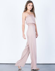 Strapless Crochet Jumpsuit - Flowy Crochet Jumpsuit - Wide Leg Jumpsuit – #2020AVEbests