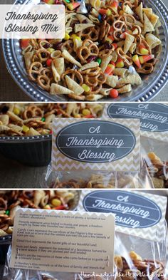 Thanksgiving Blessing Mix, with free chevron printable! HandmadeintheHeartland.com