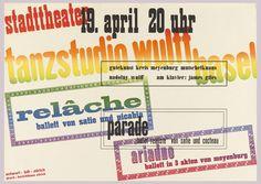 Poster, Tanzstudio Wulff, 1931