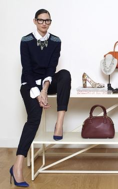 Chic and approachable, high fashion and high street Jenna Lyons fab Work Fashion, High Fashion, Street Fashion, Curvy Fashion, Fashion Outfits, Fashion Trends, Love Her Style, Style Me, Business Outfit Frau
