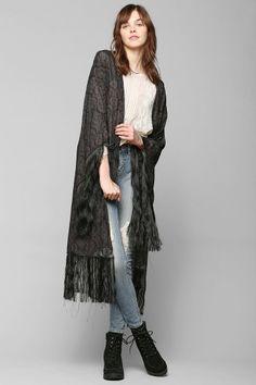 LENNI Luella Fringe Kimono Jacket