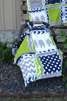 Elephant Car Seat Canopy for Baby Boy