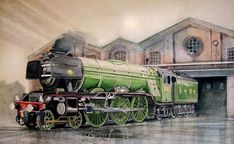 Buy The Flying Scotsman, Watercolour by John Lowerson on Artfinder. In China, Flying Scotsman, Train Art, British Rail, 5d Diamond Painting, Diamond Art, Paint By Number, Family Activities, Paintings For Sale