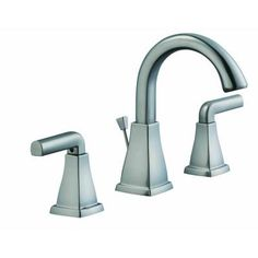 Glacier Bay 12000 Series 8 in. Widespread 2-Handle High-Arc Bathroom Faucet in Brushed Nickel-67190-6104 - The Home Depot
