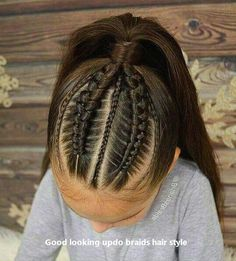 Ideal Children's Hairstyles With a Combination of Pigtails. Hairstyles Girly Your Daughter will Love Ideal Children's Hairstyles With a Combination of Pigtails. Hairstyles Girly Your Daughter will Love Childrens Hairstyles, Easy Hairstyles For Kids, Kids Braided Hairstyles, Box Braids Hairstyles, Little Girl Hairstyles, Trendy Hairstyles, Straight Hairstyles, Hairstyle Ideas, Female Hairstyles