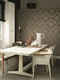 details zu tapete barock ornamente klassik rasch glanz lounge grau ... - Barock Tapete Schwarz Schlafzimmer