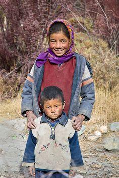 Ladakhi Girl and Brother Markha Valley