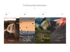 Lonely Planet HP — Destination Selector by Claudio Guglieri for Lonely Planet via Muzli UI Interactions of the week #59