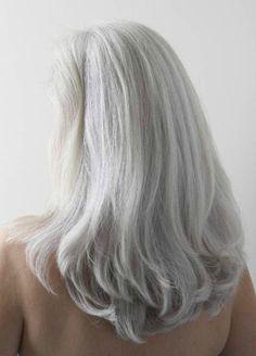 lengthy silver hair