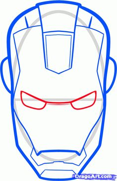 how to draw iron man easy step 4