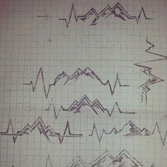 pulse mountains tattoo - Hledat Googlem