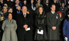 The Duke and Duchess of Cambridge making an unannounced appearance at a 5:30am ANZAC Day service at the Australian War Memorial in Canberra.