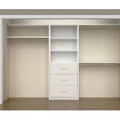 Creating a Custom Closet Organizer – Home Improvement Hacks Long Narrow Closet, Reach In Closet, Build A Closet, Kid Closet, Closet Ideas, Narrow Closet Design, Closet Redo, Entryway Closet, Closet Hacks