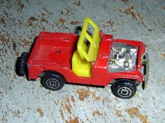 Vintage Toys Jeep Red Bush Whacker  Zylmex by TheBackShak on Etsy, $3.00