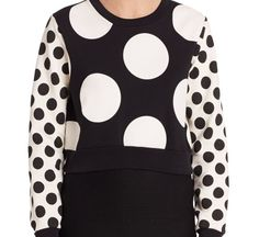 3127e912cb6 Love this: Boutique Polka Dot Cropped Sweatshirt @Lyst Striped Crop Top,  Boutique Moschino