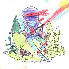 Everest & Jade Kuei   Awesome kiddo & Illustrator mom