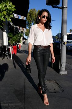 Schauspielerin Inbar Lavi - New Year Trends Inbar Lavi, Silvester Outfit, Tv Show Outfits, Sexy Teens, Polyvore Fashion, Leather Pants, Celebrity Style, Casual Outfits, Fashion Tips