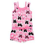 Okie Dokie® Sleeveless Romper - Toddler Girls 2t-5t