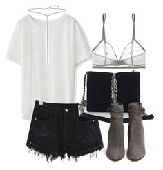 """""""Untitled #798"""" by oliviaquan22 ❤ liked on Polyvore featuring Chicwish, Zara, Gianvito Rossi, Eres and Bling Jewelry"""